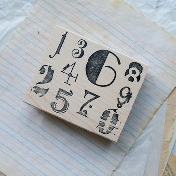 100 Proof Press Rubber Stamp - Stylish Number