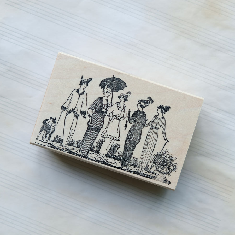 100 Proof Press Rubber Stamp Set - Antique Aristocrats
