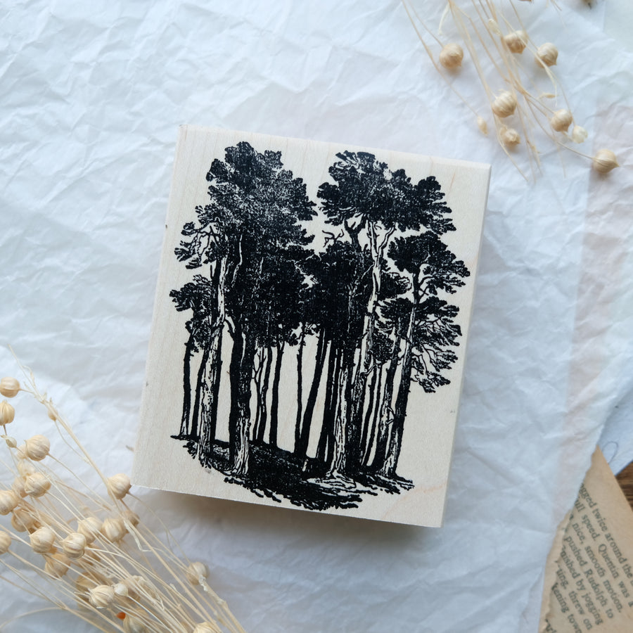 100 Proof Press Rubber Stamp Set - In A Forest
