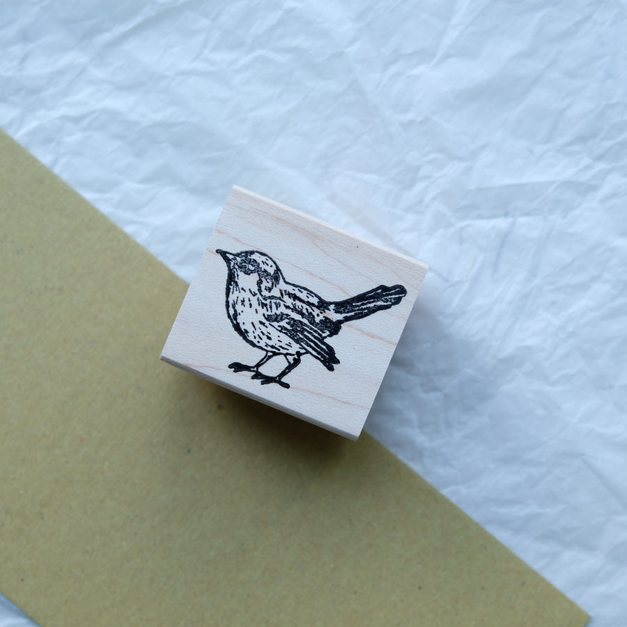 100 Proof Press Rubber Stamp Set - Lovely Bird Family