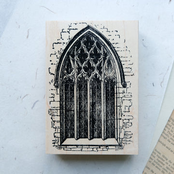 100 Proof Press Large Rubber Stamp - Mary's Window