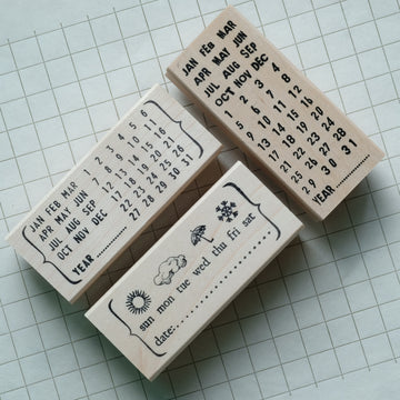 CatslifePress Bracket Calendar Rubber Stamp