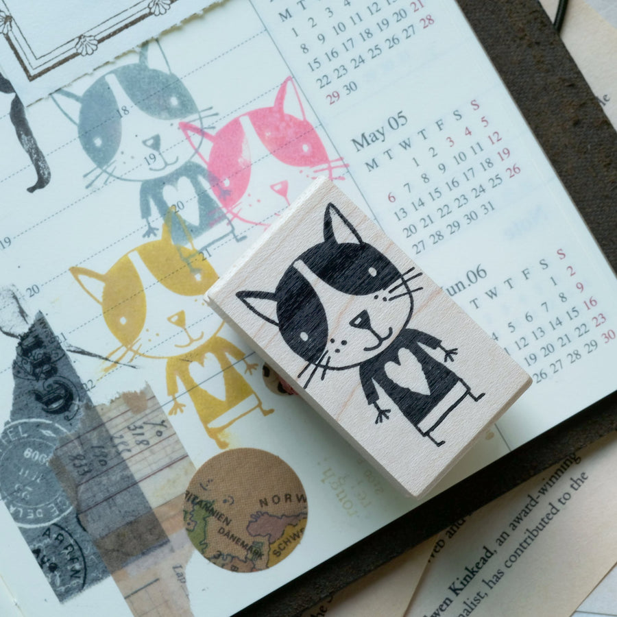 CatslifePress Cats Family Rubber Stamp