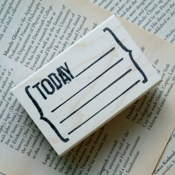 CatslifePress Today Rubber Stamp