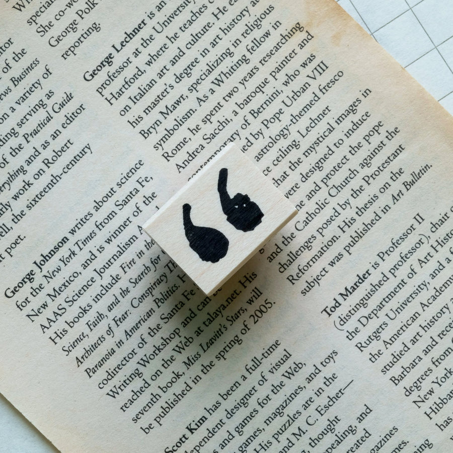 CatslifePress Punctuation Rubber Stamp