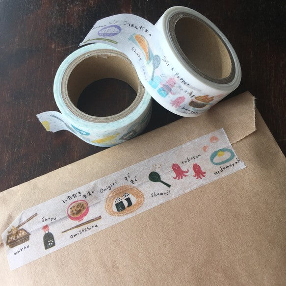 Hankodori x Papier Platz Washi Tape - Traditional Japanese Breakfast