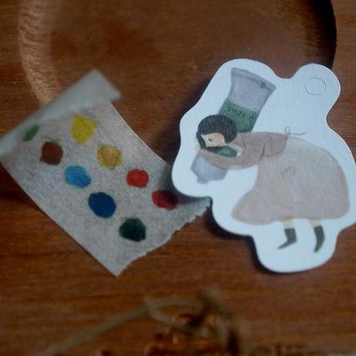 Yamadoro Rubber Stamp - Painting Girl