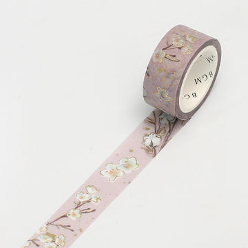 BGM Foil Stamping Washi Tape Garden Brown