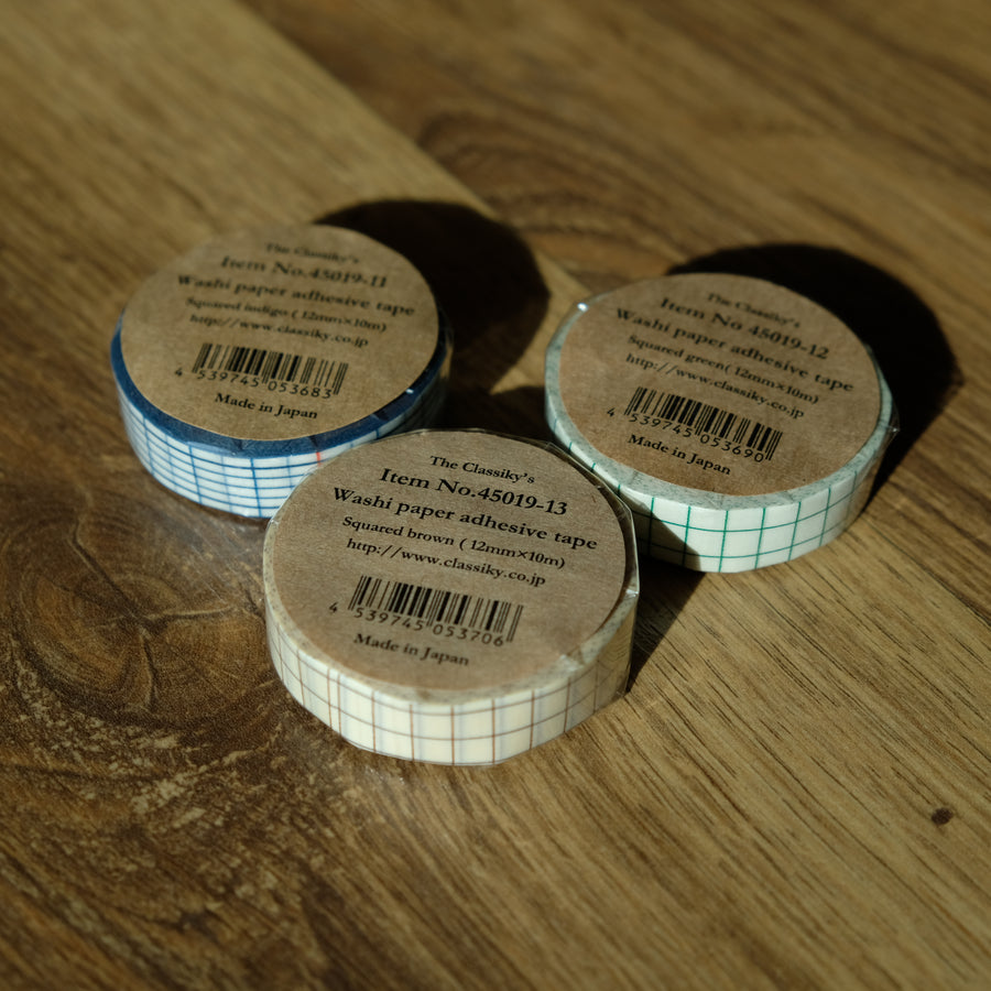 Classiky Grid 12mm Masking Tape - 1 piece pack