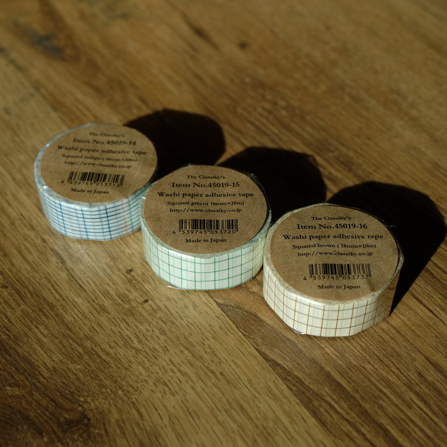 Classiky Grid 18mm Masking Tape - 1 piece pack