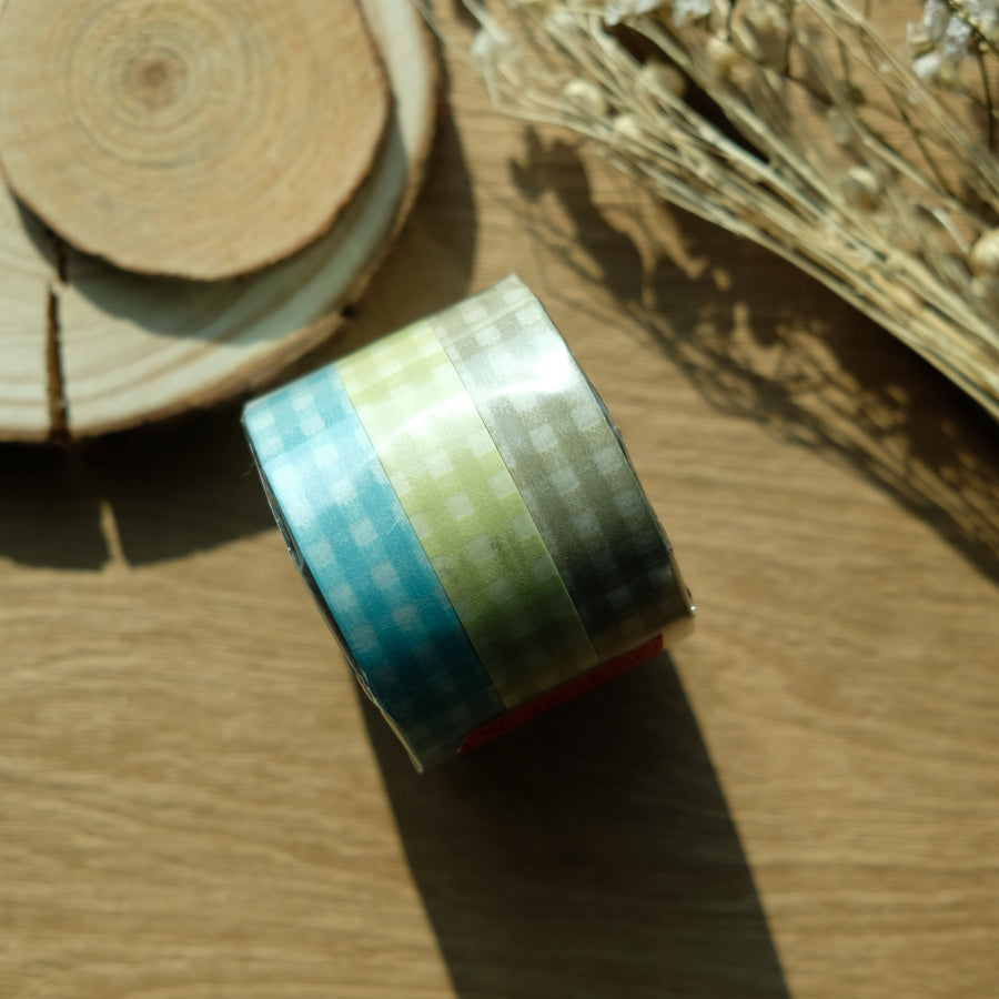 Classiky Gingham 13mm Masking Tape - Set of 3