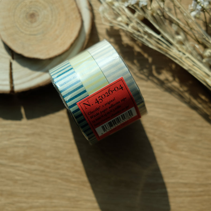 Classiky Stripe 13mm Masking Tape - Set of 3