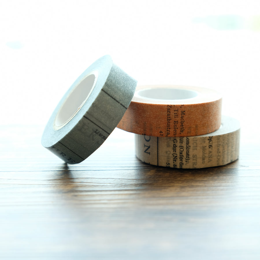 Classiky Old Book 15mm Masking Tape