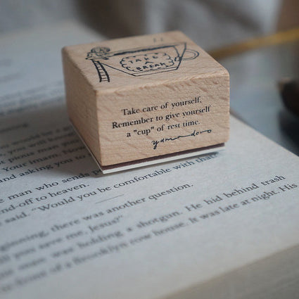 Yamadoro Rubber Stamp - A Cup Of Rest Time