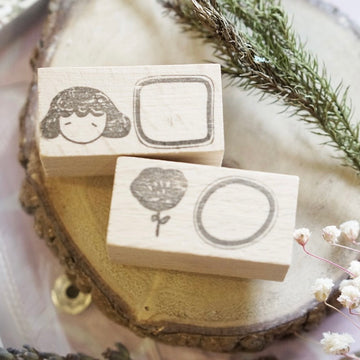 Kami Kami Chop rubber Stamp- mini frame series