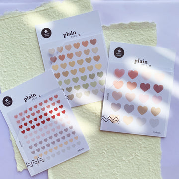 Suatelier heart shape Sticker Sheet
