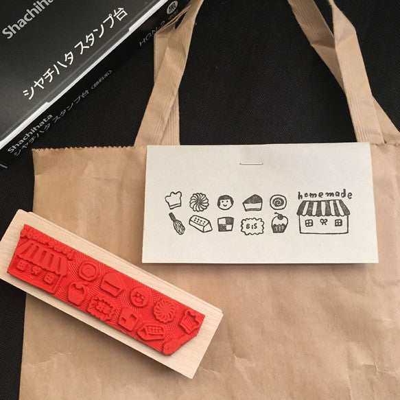 Hankodori original rubber stamp - Homemade sweets
