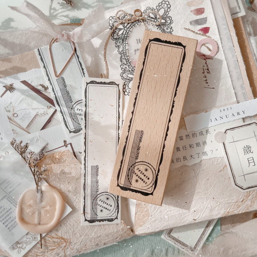 Journal Pages《back to simple》 vintage label Wooden Stamps