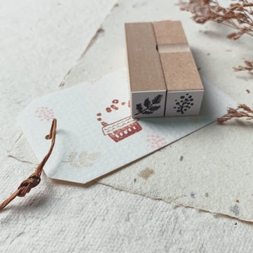 Hankodori original Mini rubber stamps - plants