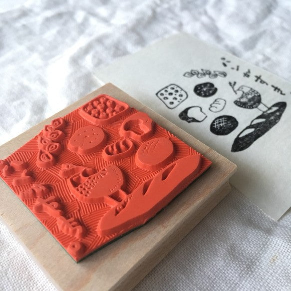 Hankodori original rubber stamp - I Like Bread