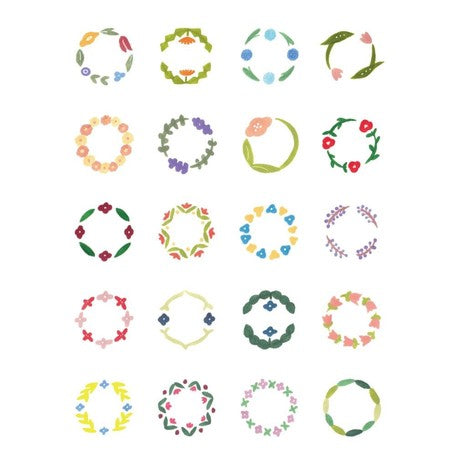 Kitta Seal washi tape - Circle Flower