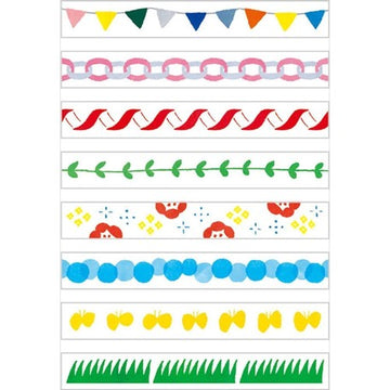 Kitta Slim washi tape - Festival