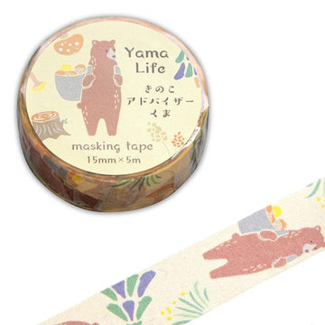 Yama Life Animal Washi Tape - Bear