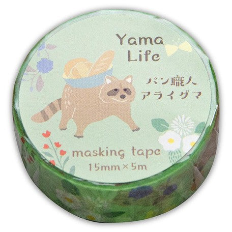 Yama Life Animal Washi Tape - Racoon