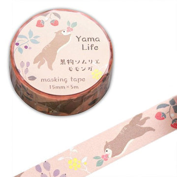 Yama Life Animal Washi Tape - Flying Squirrel