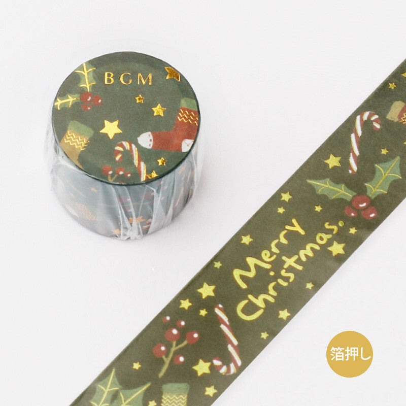 BGM Christmas Washi Tape【Limited Edition】