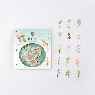 BGM Flake SEAL Flower washi sticker Material 5pcs