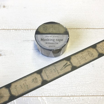 Papier Platz x Hutte Washi Tape - Oil Label Black