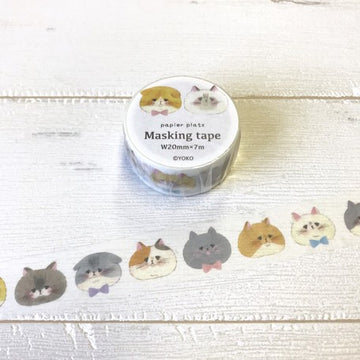 Papier Platz x Hutte Washi Tape - Cat Face