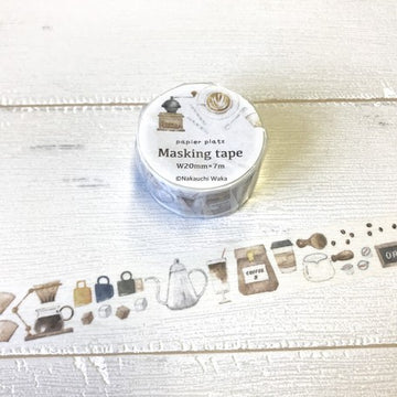 Papier Platz x Hutte Washi Tape - Coffee