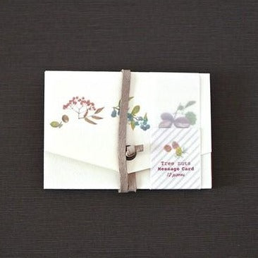 Retronomeシリーズ  Tree nuts vintage message card