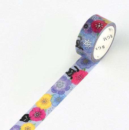 BGM Crayon Land Washi Tape - Anemone