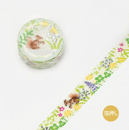 BGM Crayon Land Washi Tape - Green