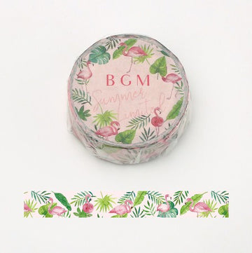 BGM Summer Limited Washi Tape - Flamingo