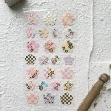 Wanowa Pink Flower Sticker Sheet