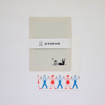 Mizushima x Mauko Eri Letter writing set - Children / Line Dance