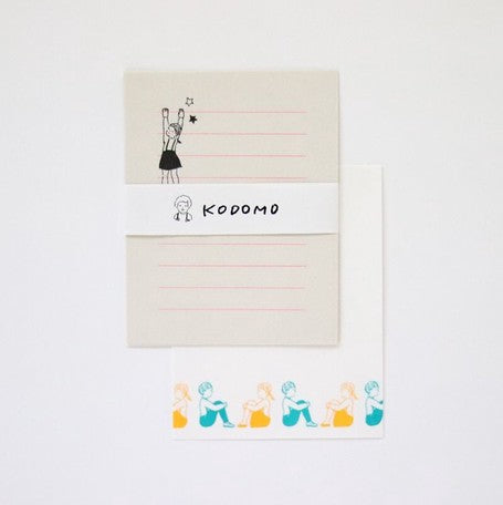 Mizushima x Mauko Eri Letter writing set - Children /Sitting on the floor