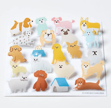 HITOTOKI Pop-up Stickers - Dogs