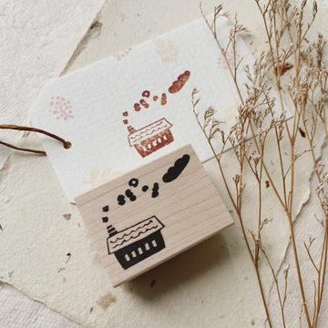 Hankodori original rubber stamp - Kemuri Bread