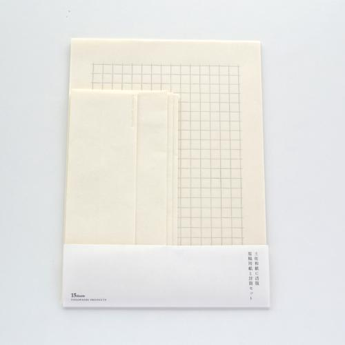 Tosawashi Product Letterpress Washi Letter & Envelope Set