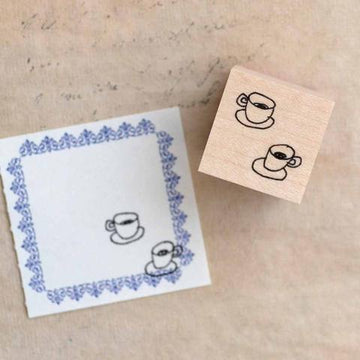 Monokoto x Orishige Shunzi Rubber Stamps - Hot drink