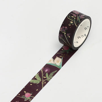 BGM Foil Stamping Washi Tape Garden Red