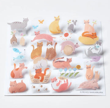 HITOTOKI Pop-up Stickers - Cats