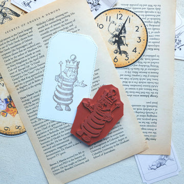 Makistamps - Alice in Wonderland Chess King Rubber Stamp