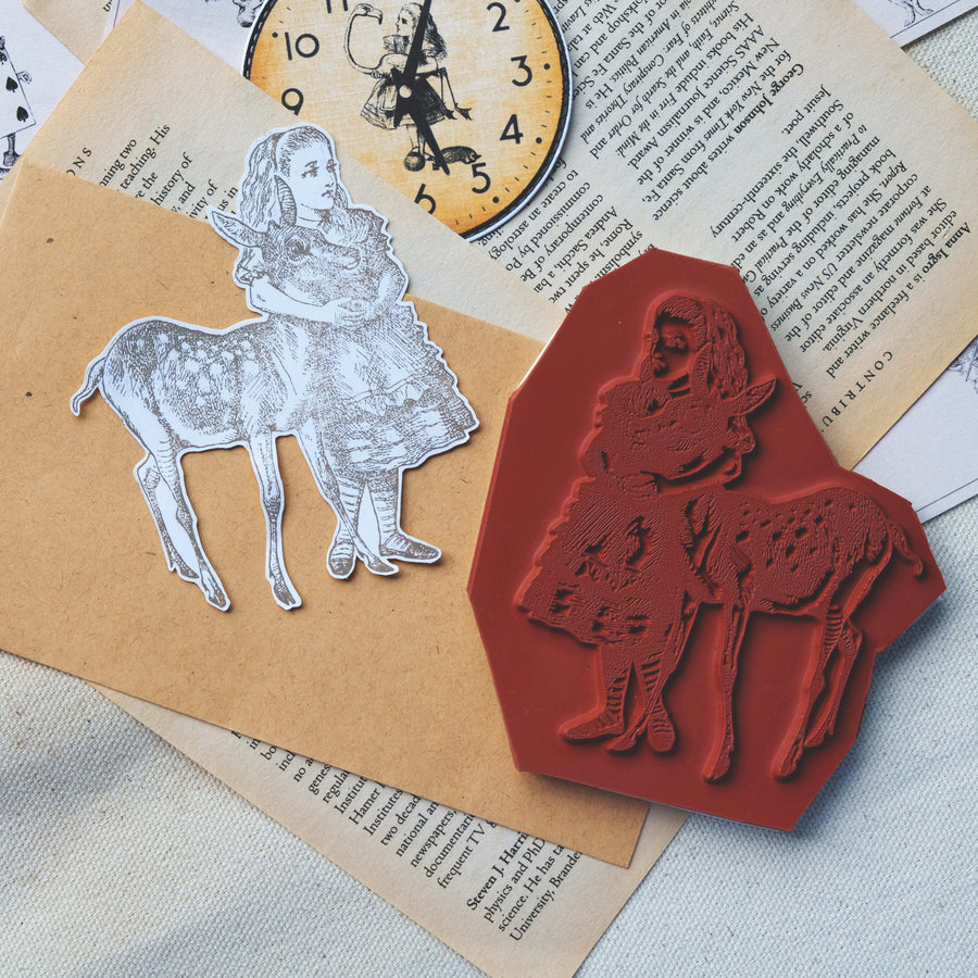 Makistamps - Alice With Fawn