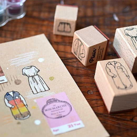 Plain Stationery Tryin' on Rubber Stamp